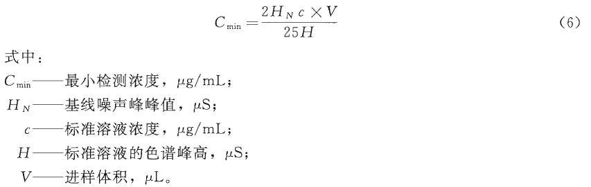 按shi(6) 计算最xiao检测nong度C min (按25μL 进yang量  计算)