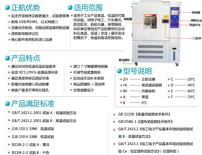 可编程高低温试yan箱产品te点说明图