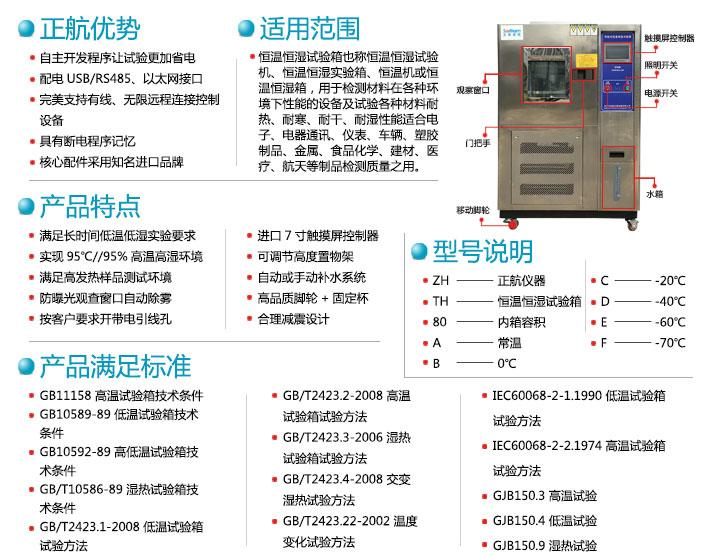 常规ca88xia载恒湿shi验xiang优势和型号及适用范围知识图