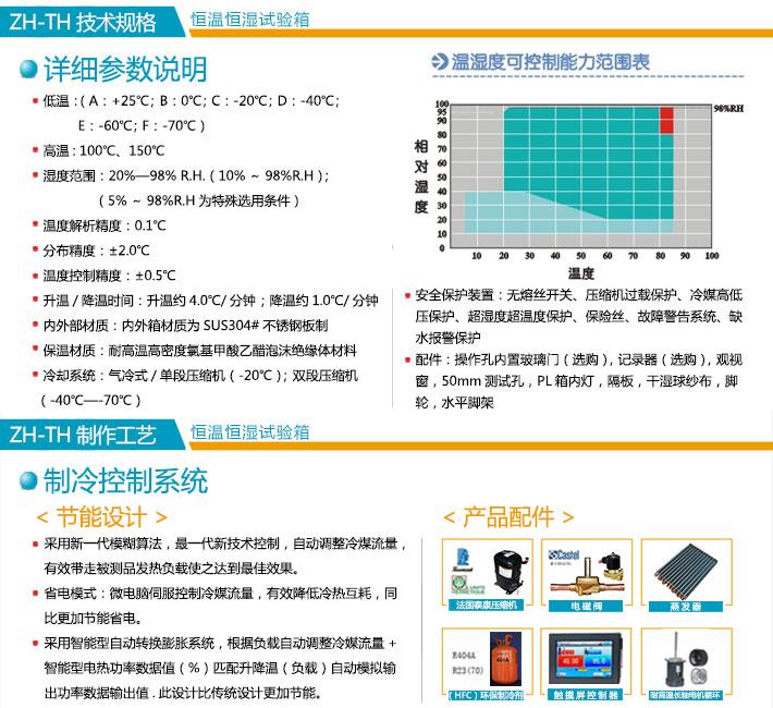 常规ca88xia载恒湿shi验xiang技术规格及技术参数展示图